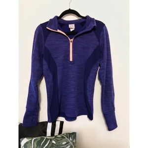 Tops - Athletic Purple Half-Zip (L)